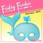 Friday Freebie: Whale Mask