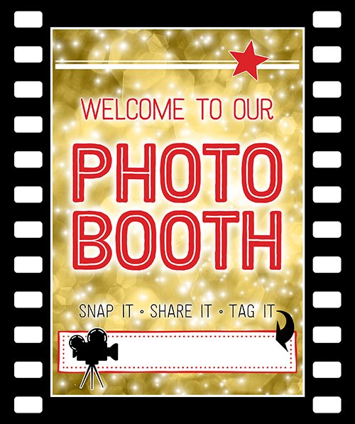 Ridgetop Digital Shop | Friday Freebie | Printable Photo Booth Sign | Movie Night