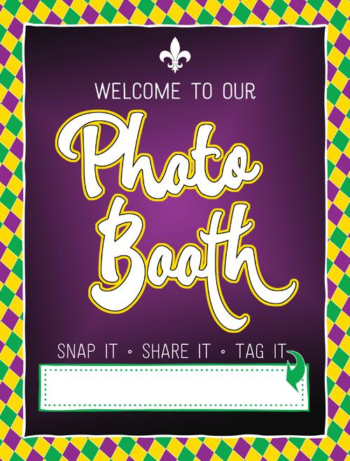 Ridgetop Digital Shop| Friday Freebie | Photo Booth Sign | Mardi Gras Printable