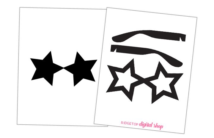 Ridgetop Digital Shop | Photo Booth Prop | SVG | Sunglasses | Movie Night | Oscar Party
