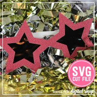 Ridgetop Digital Shop | Star Glasses SVG Cut File