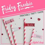 Friday Freebie: Valentine Straw Flags