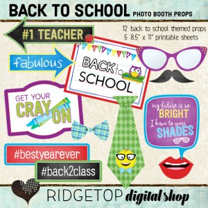 Ridgetop Digital Shop | Back to School Photo Props Printable