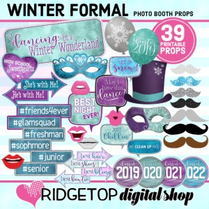 Ridgetop Digital Shop | Winter Formal Photo Props | Dancing in a Winter Wonderland