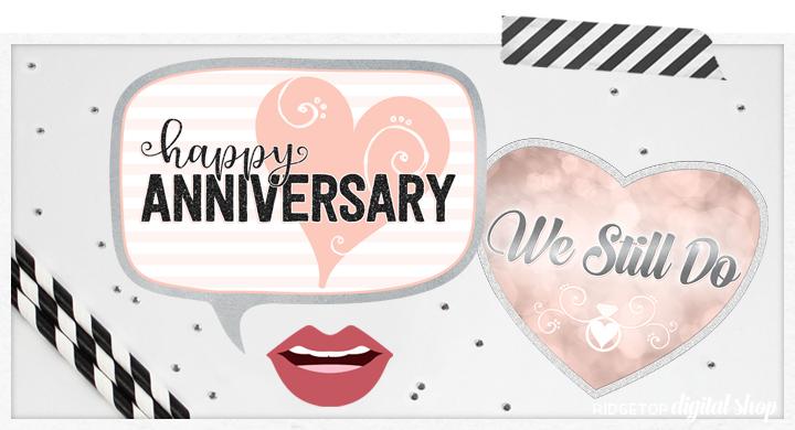 Ridgetop Digital Shop | Anniversary Photo Booth Props