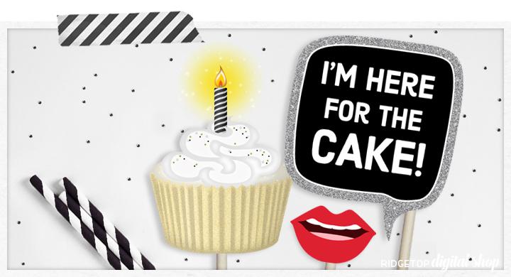 Ridgetop Digital Shop   Birthday Photo Booth Props   15th Birthday Printables