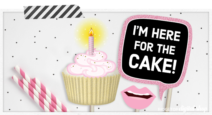 Ridgetop Digital Shop | Birthday Photo Booth Props | 13th Birthday Printables