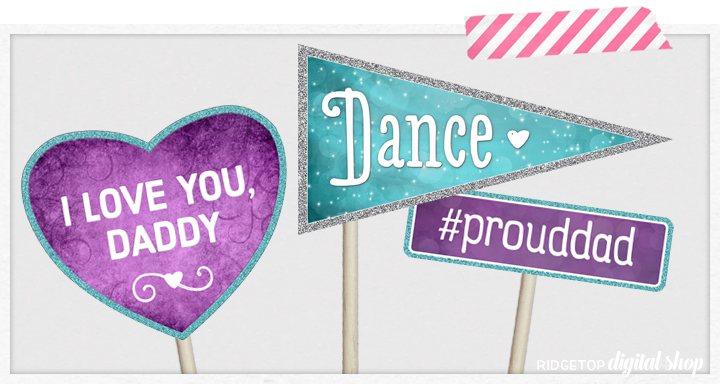 Ridgetop Digital Shop | Father Daughter Dance Photo Booth Props | Daddy Daughter Dance