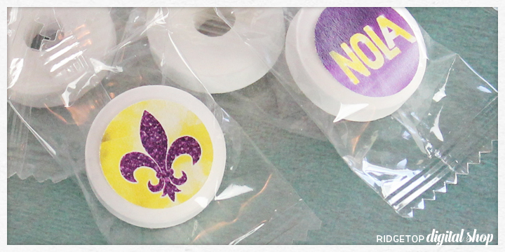 Ridgetop Digital Shop | Snapshot | Mardi Gras Candy Stickers Free Printable