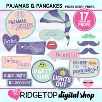 Ridgetop Digital Shop | Pajamas and Pancakes Photo Booth Sign Free Printable | Pancakes and PJ's