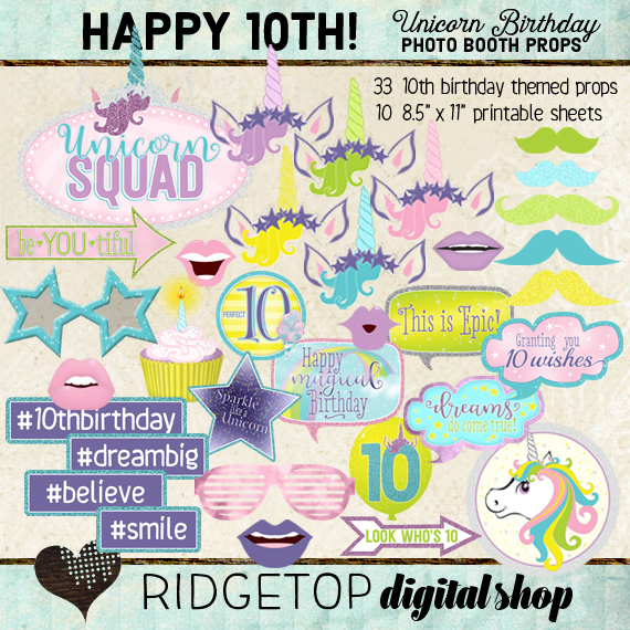 Unicorn 10th Birthday