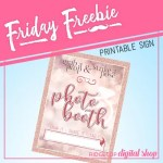 Friday Freebie: Rose Gold Bridal Photo Booth Sign