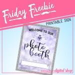 Friday Freebie: Victorian Lilac Wedding Photo Booth Sign