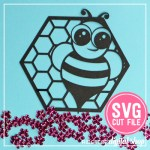 Bee Cupcake Topper SVG