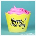 Snapshot – Cupcake Wrapper – Happy BeeDay