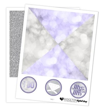 Ridgetop Digital Shop   Victorian Lilac Wedding Pinwheel   Free Wedding Printable