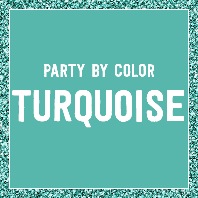 Ridgetop Digital Shop | Turquoise Birthday Party Printables