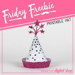Friday Freebie: Pink and Silver Party Hat