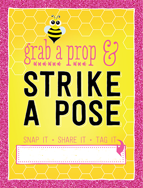 Ridgetop Digital Shop | Free Printable | Bee Photo Booth Sign