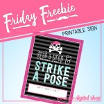Friday Freebie: Lady Pirate Photo Booth Sign