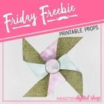 Friday Freebie: Dusty Pink and Sage Wedding Pinwheel