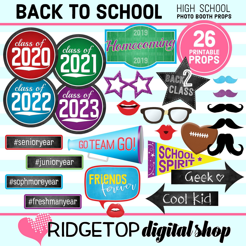 Ridgetop Digital Shop | School Carnival Photo Props | End of Year