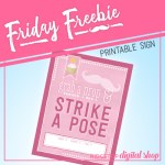 Friday Freebie: Pink Birthday Photo Booth Sign