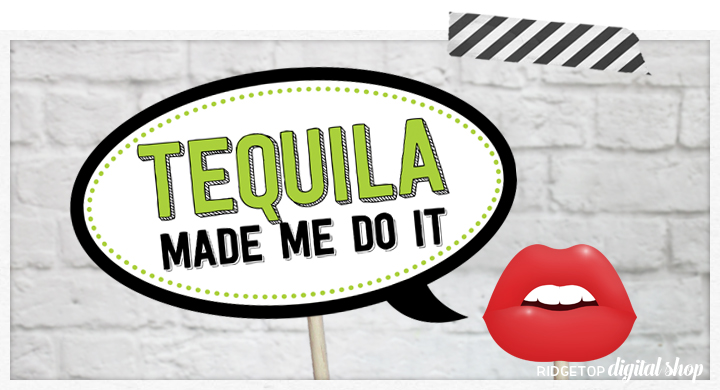Ridgetop Digital Shop | Tequila Photo Booth Props | dia de los muertos | Cinco De Mayo