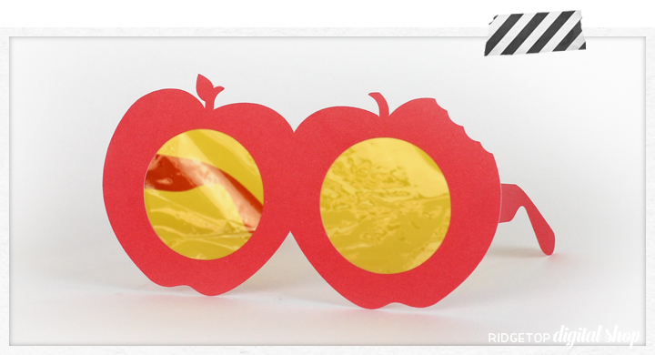 Ridgetop Digital Shop | Apple Glasses Photo Booth Prop | Back to School SVG