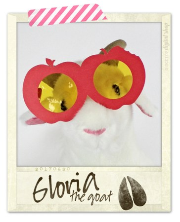 Ridgetop Digital Shop | Apple Glasses Photo Booth Prop | Back to School SVG | Gloria the Goat