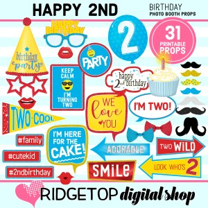 Ridgetop Digital Shop | 2nd birthday party printable