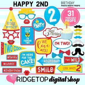 Ridgetop Digital Shop | 2nd birthday party printable