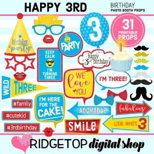 Ridgetop Digital Shop | 3rd birthday party printable