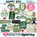 Party Supplies Digital Christmas Photo Booth Sign Props No Physical Item Peaktraining Com Au