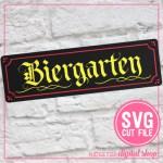 Biergarten Sign SVG