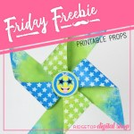 Friday Freebie: Blue and Lime Pinwheel
