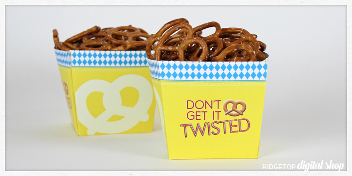 Ridgetop Digital Shop | Free Printable | Oktoberfest Pretzel Box | Snapshot Newsletter