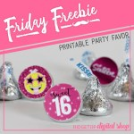 Friday Freebie: Sweet 16 Candy Stickers