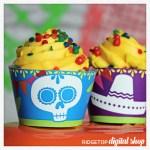 Snapshot – Mini Cupcake Wrapper – Dia de los Muertos