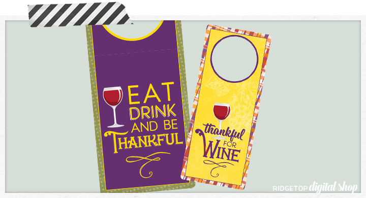 Ridgetop Digital Shop | Snapshot Printables | Thanksgiving Wine Tags | Thanksgiving Free Printable