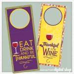 Snapshot – Wine Tags – Thanksgiving