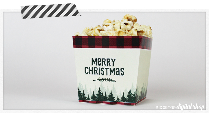 Christmas Flannel Snack Box Printable | Christmas Printable Free | Merry Christmas | Christmas DIY | Lumberjack | North Woods | Buffalo Plaid | Ridgetop Digital Shop