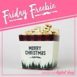 Christmas Flannel Snack Box Printable
