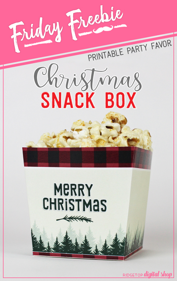 Ridgetop Digital Shop | Friday Freebie | Christmas Snack Box Free Printable