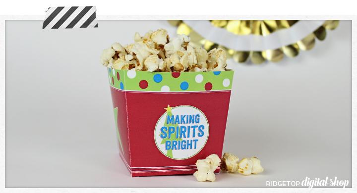 Christmas Snack Box Printable | Making Spirits Bright | Free Christmas Printable | Ridgetop Digital Shop