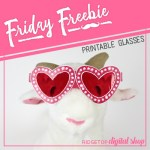 Friday Freebie: Red Hot Glasses Printable