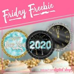Friday Freebie: New Year 2020 Cupcake Toppers
