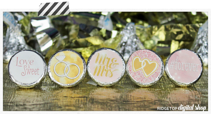 Rose Gold Candy Stickers Free Printable   Ridgetop Digital Shop