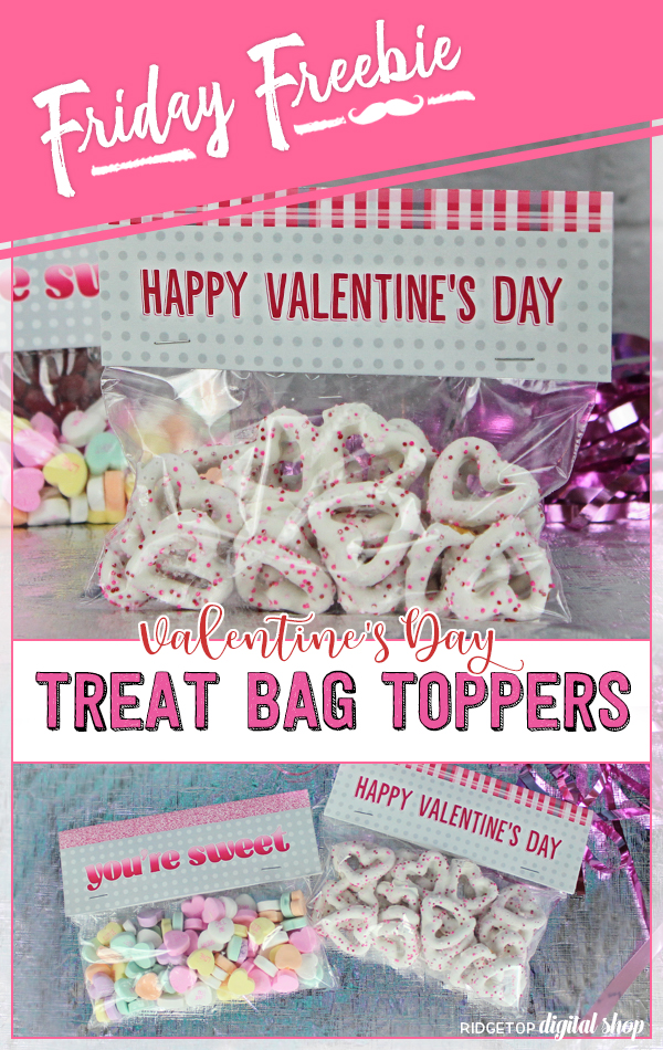 Valentine Free Printable | Valentine's Day Treat Bag Topper | Classroom Goodie Bag Topper | Friday Freebie | Ridgetop Digital Shop