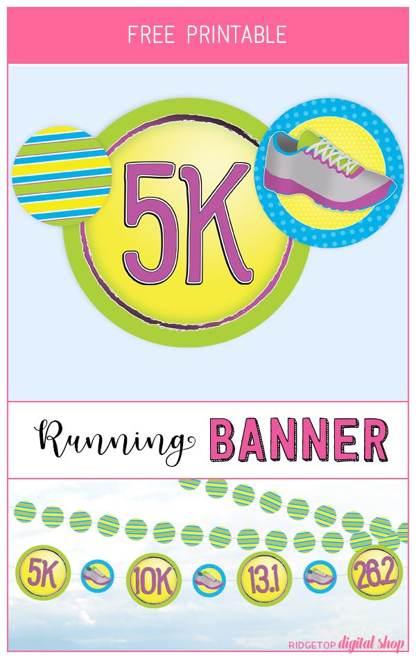 Ridgetop Digital Shop | Snapshot Newsletter Printable | Run Banner | Garland | Photo Booth Backdrop | 5k | 10K | 13.1 | 26.2